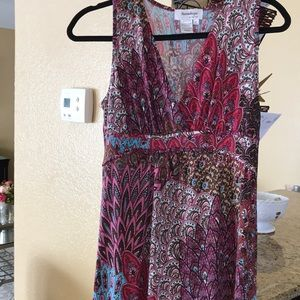 Maxi Dress Colorful Pattern Size XL